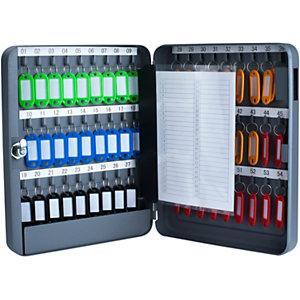 Pavo Armario para llaves, capacidad 54 llaves, color gris antracita