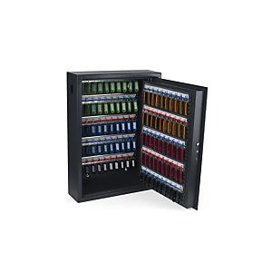 Pavo Armoire à clé haute sécurité en acier serrure à combinaison électronique - capacité 100 clés - Gris anthracite