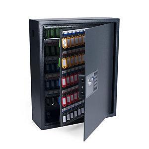 Pavo Armoire à clé haute sécurité en acier serrure à combinaison électronique - capacité 150 clés - Gris anthracite