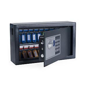 Pavo Armoire à clé haute sécurité en acier serrure à combinaison électronique - capacité 20 clés - Gris anthracite