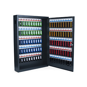 Pavo Armoire à clé de luxe en acier - capacité 100 clés - Gris anthracite
