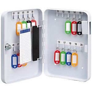 Pavo Armoire à clés - capacité 20 clés - Coffret blanc