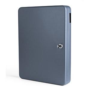 Pavo Armoire à clés capacité 70 clés - Coffret gris foncé