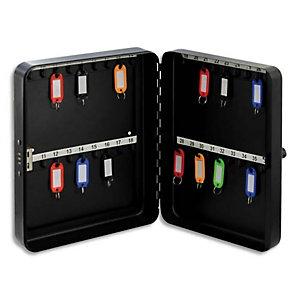 PAVO Armoire à clés à combinaison capacité 36 clés - Dimensions : L25 x H18 x P4,5 cm coloris Gris foncé