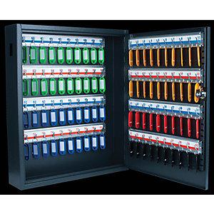 Pavo Armoire à clés de luxe en acier - Capacité 80 clés - Gris anthracite