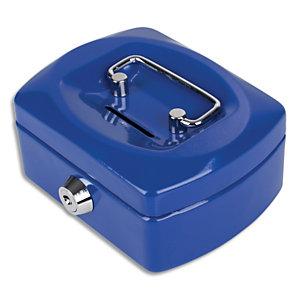 PAVO Caissette à monnaie 12,5cm fente d'insertion+6 compartiments internes Bleu Kobalt glossy 8007417