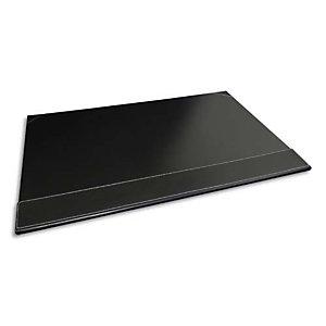 PAVO Sous-main à rabat simili cuir - Dimensions L50 x H35 x P1 cm coloris Noir