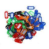 Pavo Porte-clés à étiquette - Plastique - Couleurs assorties - Sachet de 100