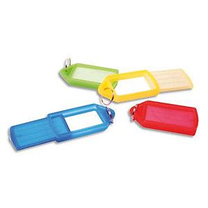PAVO Sachet de 5 porte-clés avec anneaux - Longueur 5,7 cm, largeur 3 cm coloris assortis