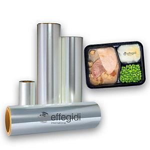 Pellicola alimentare, Bobina PET+PP per alimenti, Non pelabile, 240 mm x 400 m, Trasparente