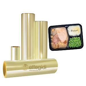 Pellicola alimentare, Bobina PET+PP per alimenti, Non pelabile, 270 mm x 400 m, Trasparente