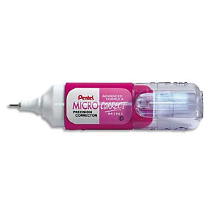 PENTEL Mini correcteur liquide contenance 4,2ml- Format mini et coloris Rose