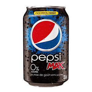 Pepsi MAX Boites 33cl (Lot de 24)