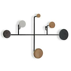 Perchero de pared Classic, 6 ganchos madera, 52 x 30 x 8 cm