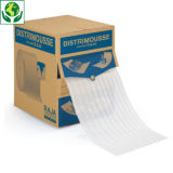 Perforierte Schaumfolie in der Spenderbox DISTRIMOUSSE