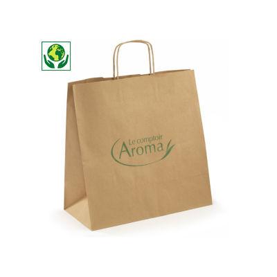 Personalisierte Recycling-Papiertragetaschen