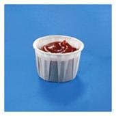 Petit pot alimentaire papier plissé
