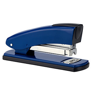 PETRUS 2001 Grapadora manual retro, capacidad para 30 hojas, compatible con grapas 22/6, 24/6 y 26/6, azul