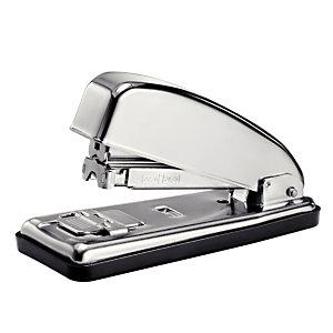 PETRUS 226C Grapadora manual, capacidad para 30 hojas, compatible con grapas 22/6 y 24/6, cromada