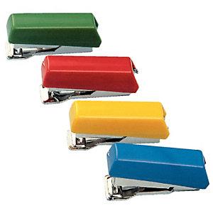 PETRUS Bambina 202 Grapadora manual mini, capacidad para 5 hojas, compatible con grapas 202, colores surtidos