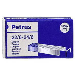 PETRUS Grapas estándar 22/6-24/6 galvanizadas