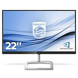 """Philips E Line Moniteur LCD 226E9QHAB/00, 54,6 cm (21.5""""), 1920 x 1080 pixels, Full HD, LED, 4 ms, Noir, Argent"""