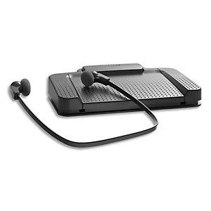 PHILIPS Kit de transcription comprenant pédalier USB, casque et logiciel SpeechExec Basic Transcribe 2ans