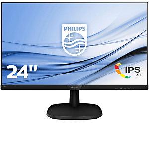 "Philips Monitor V-line 243V7QDAB, LCD, 24"", Full HD (1920x1080), IPS, 250cd/m2, VGA - HDMI, negro"