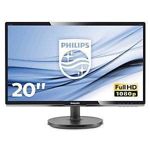 """Philips V Line Moniteur LCD avec rétroéclairage LED 200V4QSBR/00, 49,6 cm (19.5""""), 1920 x 1080 pixels, Full HD, LED, 20 ms, Noir"""