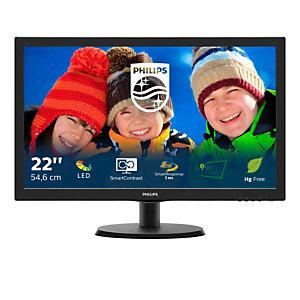 """Philips V Line Moniteur LCD avec SmartControl Lite 223V5LSB/00, 54,6 cm (21.5""""), 1920 x 1080 pixels, Full HD, LED, 5 ms, Noir"""