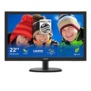 "Philips V Line Monitor LCD con SmartControl Lite 223V5LHSB2/00, 54,6 cm (21.5""), 1920 x 1080 Pixeles, Full HD, LED, 5 ms, Negro"