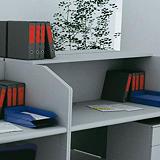 Pianetti opzionali  - Linea Pronto - cm 125 x 30 - grigio