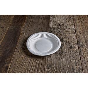 Piatto fondo monouso in cartoncino bio e compostabile, Ø 19 cm, Bianco (confezione 1.000 pezzi)