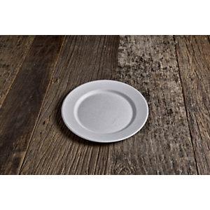 Piatto piano monouso in bagassa bio e compostabile, Ø 21 cm, Bianco (confezione 600 pezzi)