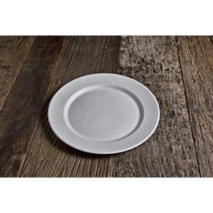 Piatto piano monouso in bagassa bio e compostabile, Ø 27 cm, Bianco (confezione 600 pezzi)