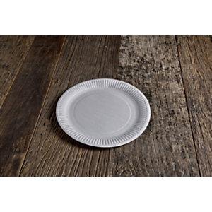 Piatto piano monouso in cartoncino bio e compostabile, ø 23 cm, Bianco (confezione 1.000 pezzi)