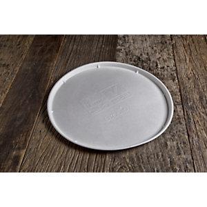 Piatto pizza monouso in bagassa bio e compostabile, Ø 32 cm, Bianco (confezione 500 pezzi)