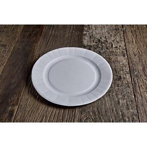 Piatto pizza monouso in cartoncino bio e compostabile, Ø 29 cm, Bianco (confezione 250 pezzi)