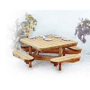 Picknicktafel in hout 8 plaatsen