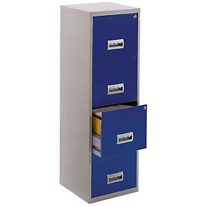 PIERRE HENRY Archivador 4 cajones azul/gris Access