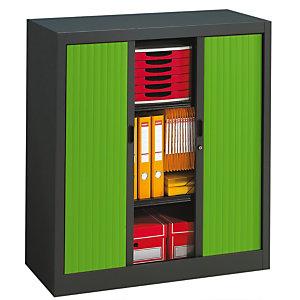 PIERRE HENRY Armario de persiana Classtout 90 x 100 cm antracita/verde