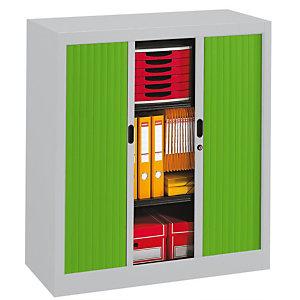 PIERRE HENRY Armario de persiana Classtout 90 x 100 cm gris/verde