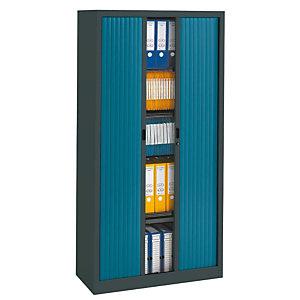 PIERRE HENRY Armario de persiana Classtout 90 x 180 cm antracita/azul