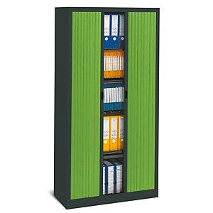 PIERRE HENRY Armario de persiana Classtout 90 x 180 cm Color antracita/verde