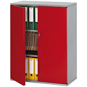 PIERRE HENRY Armario de puertas batientes Starting 105 (alt) aluminio/rojo