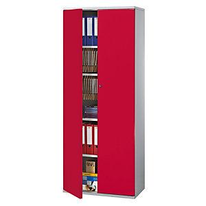 PIERRE HENRY Armario de puertas batientes Starting 198 (alt) aluminio/rojo
