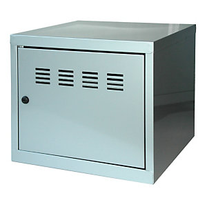 PIERRE HENRY Casillero metálico, altura 36,5 cm, aluminio