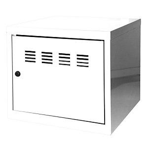 PIERRE HENRY Casillero metálico, altura 36,5 cm, blanco