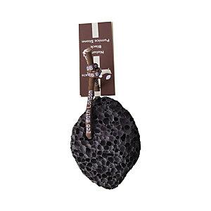Pietra pomice lavica nera con cordino