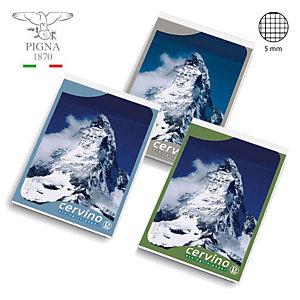 """PIGNA Block-notes """"Cervino"""" - F.to A6 - Quadretto 5 mm (confezione 20 pezzi)"""